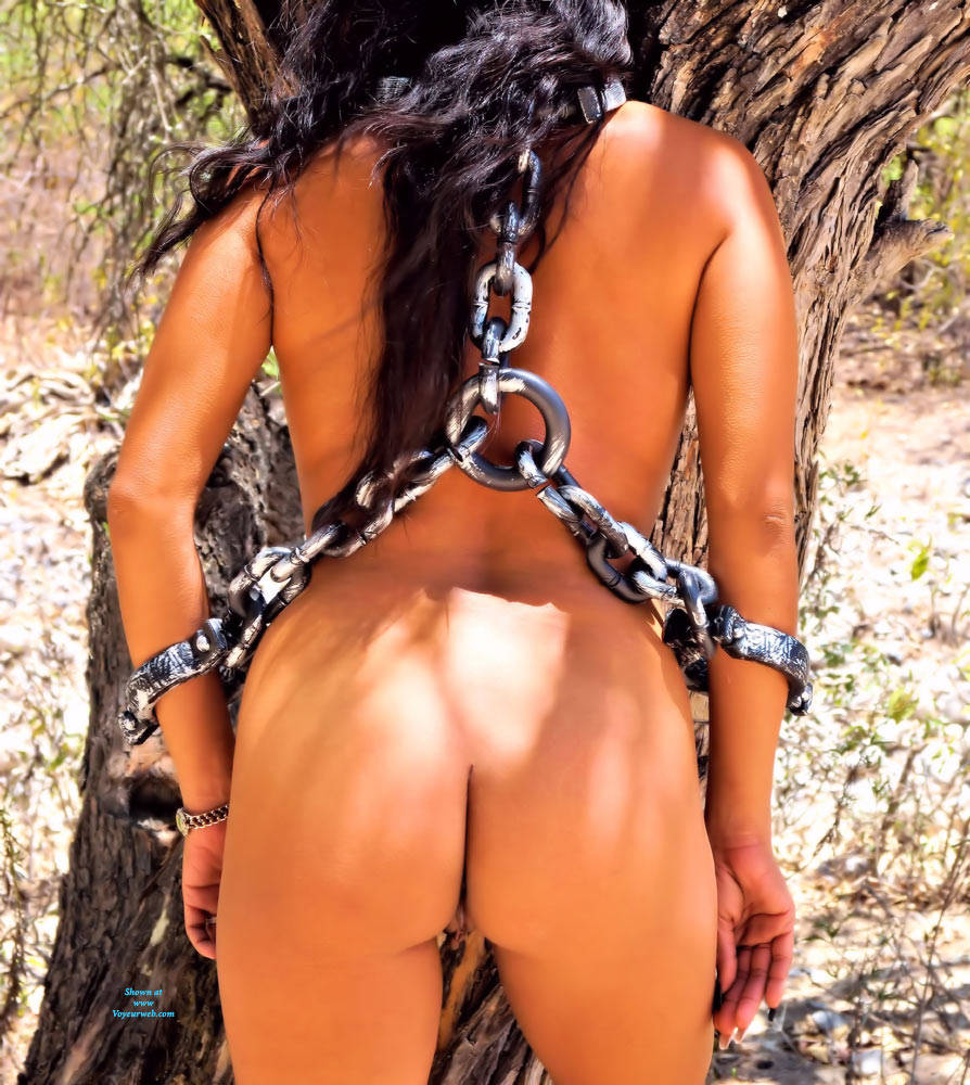 Pic #9 Slave Of Pleasure In Wildlife - Nude Girls, Big Tits, Brunette, Outdoors, Shaved, Nature