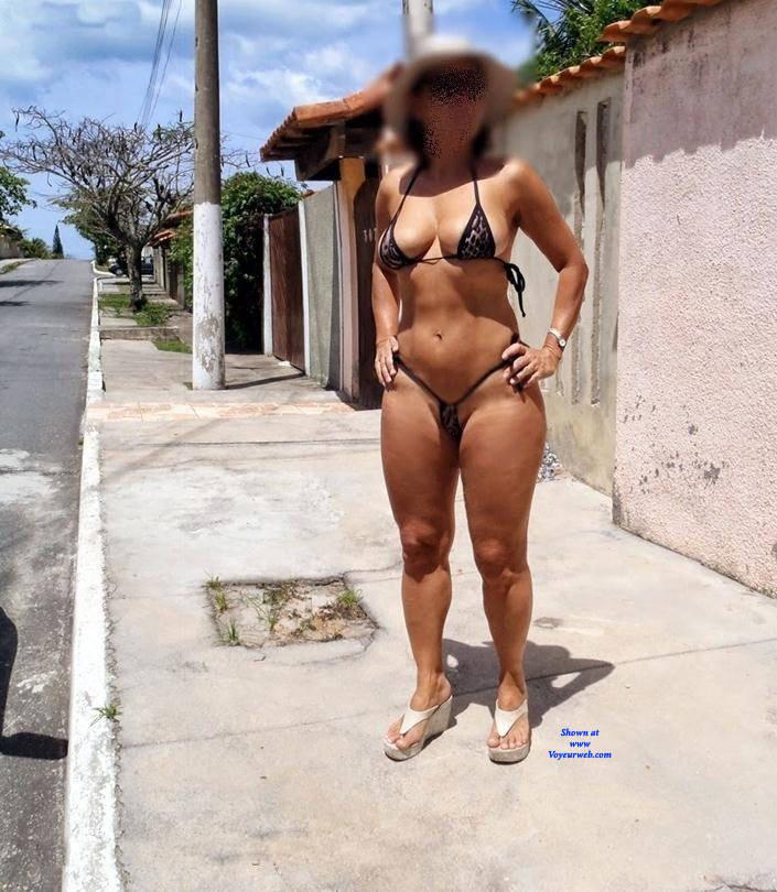 Pic #4 Edna From Recife City, Brazil - Public Exhibitionist, Outdoors, Public Place, Amateur