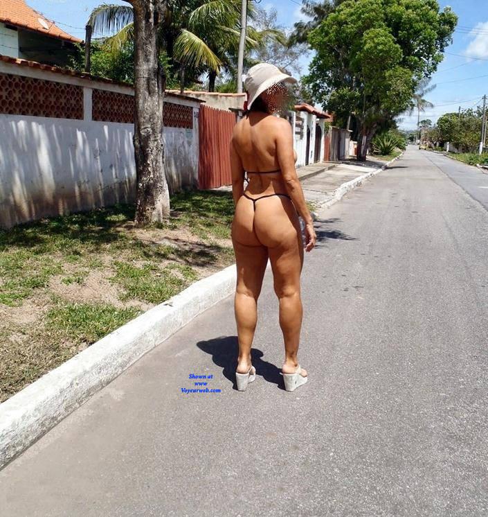 Pic #7 Edna From Recife City, Brazil - Public Exhibitionist, Outdoors, Public Place, Amateur
