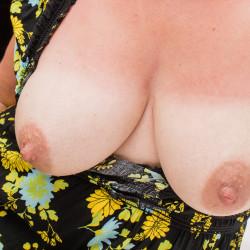 Medium tits of my wife - Jenny