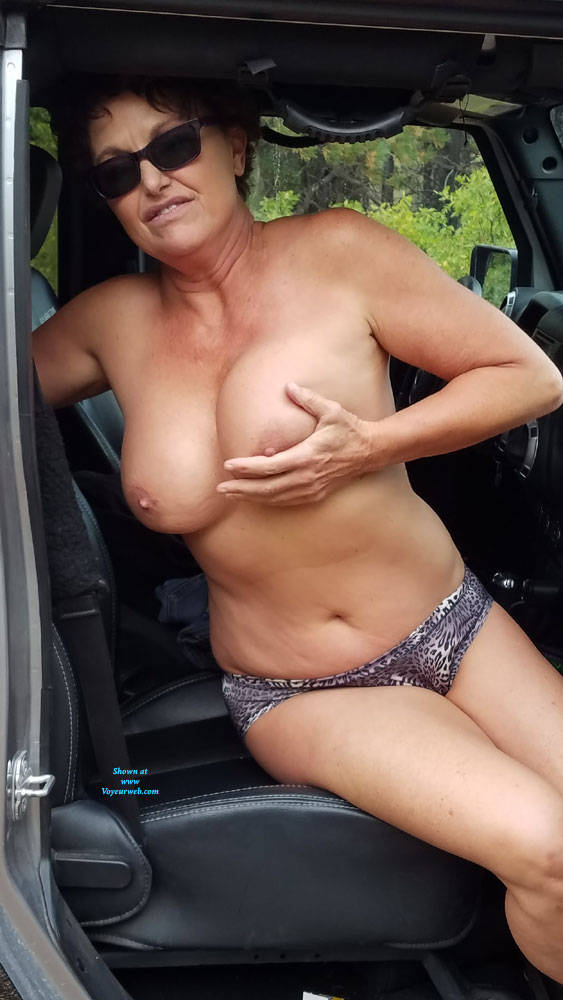 Pic #10 Fall Posing - Nude Amateurs, Big Tits, Brunette, Outdoors, Nature