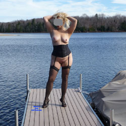 A Visit To The State Park - Big Tits, Blonde, Lingerie, Outdoors, Amateur