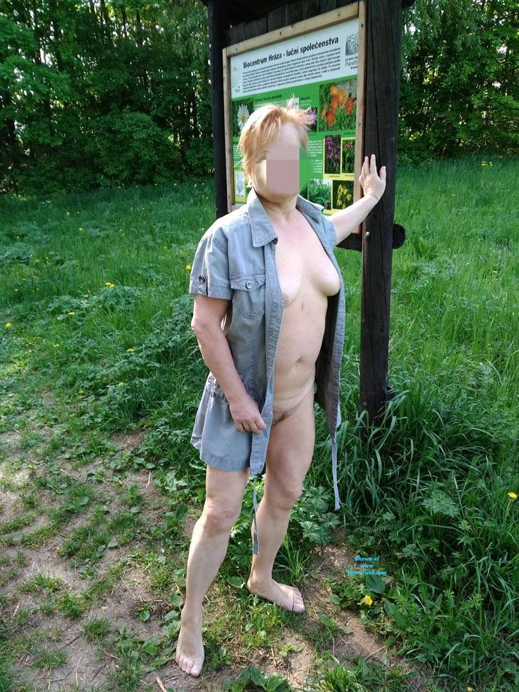 Pic #3 In Nature - Big Tits, Public Exhibitionist, Flashing, Outdoors, Public Place, Wife/wives, Amateur