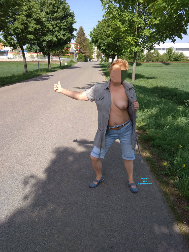 Pic #9 In Nature - Big Tits, Public Exhibitionist, Flashing, Outdoors, Public Place, Wife/wives, Amateur