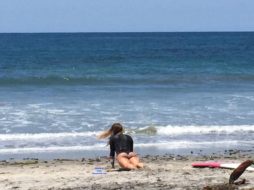 Pic #6 Sexy Surfer Ass - Beach, Outdoors, Beach Voyeur