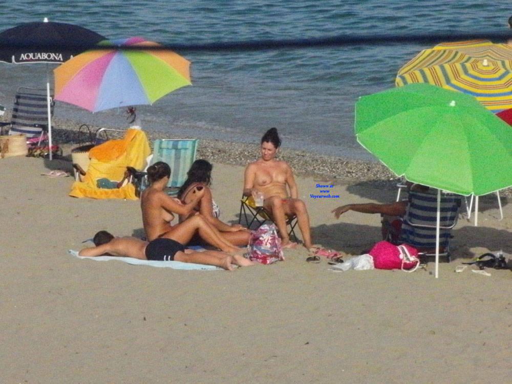Pic #4 Spanish Beach - Topless Girls, Beach, Brunette, Outdoors, Beach Voyeur