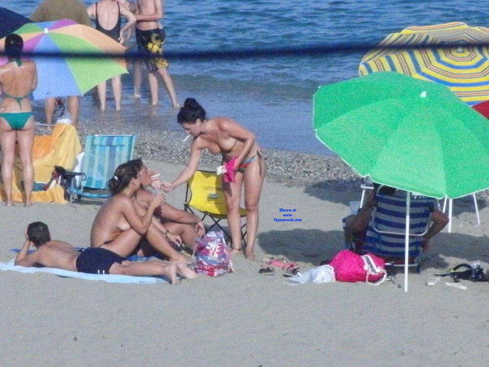 Pic #8 Spanish Beach - Topless Girls, Beach, Brunette, Outdoors, Beach Voyeur