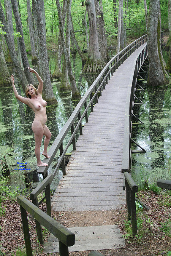 Pic #3 On The Bridge - Nude Girls, Big Tits, Outdoors, Amateur