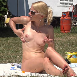 Pic #1 Natural Blonde - Nude Girls, Blonde, Outdoors, Firm Ass