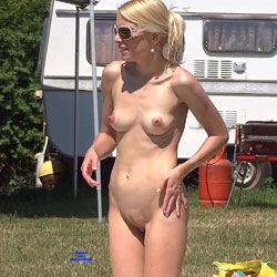 Natural Blonde - Blonde Hair, Nude Outdoors, Naked Girl, Sexy Ass