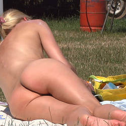 Pic #7 Natural Blonde - Nude Girls, Blonde, Outdoors, Firm Ass
