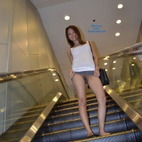 Escalators, Taxis, Shopping Malls and other Pussy Flashing Places - Public Exhibitionist, Public Place, See Through, Flashing, Asian