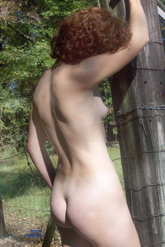 Pic #10 In The Field - Nude Girls, Outdoors, Redhead, Amateur