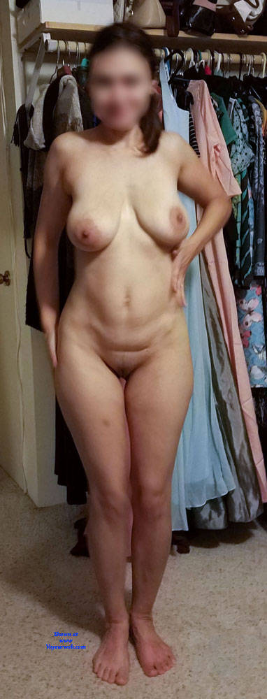 Pic #10 White Sheer Strip - Big Tits, Brunette, Lingerie, Girls Stripping