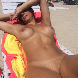 Trixie Goes To The Nude Beach - Nude Girls, Beach, Big Tits, Outdoors, Amateur, Firm Ass