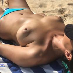 Pic #3 Girl From Hungary - Topless Girls, Brunette, Outdoors, Beach Voyeur