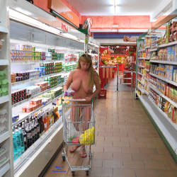 Pic #7 Nude On Streets And In The Shop - Nude Girls, Big Tits, Public Exhibitionist, Flashing, Outdoors, Public Place, Amateur