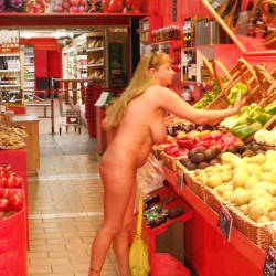 Pic #9 Nude On Streets And In The Shop - Nude Girls, Big Tits, Public Exhibitionist, Flashing, Outdoors, Public Place, Amateur