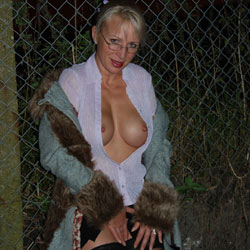 Walk In The Dark, Parts 1 And 2 - Big Tits, Blonde, Outdoors, Amateur, Pantieless Wives