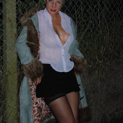 Pic #2 Walk In The Dark, Parts 1 And 2 - Big Tits, Blonde, Outdoors, Amateur, Pantieless Wives