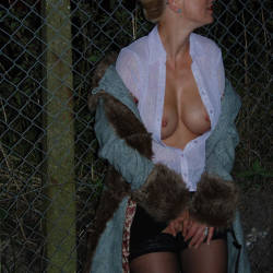 Pic #8 Walk In The Dark, Parts 1 And 2 - Big Tits, Blonde, Outdoors, Amateur, Pantieless Wives