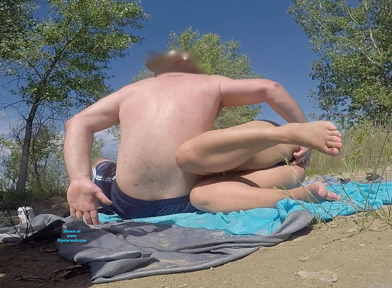 Pic #2 End Of Tanning Then Lunch - Pantieless Wives, Public Exhibitionist, Flashing, Outdoors, Public Place, Amateur