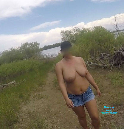 Pic #3 End Of Tanning Then Lunch - Pantieless Wives, Public Exhibitionist, Flashing, Outdoors, Public Place, Amateur