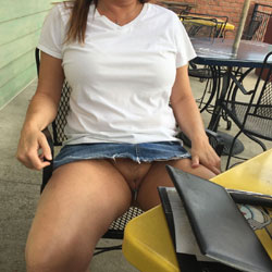 End Of Tanning Then Lunch - Pantieless Wives, Public Exhibitionist, Flashing, Outdoors, Public Place, Amateur