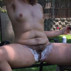 Very Hairy GF Trimming Outside  - Nude Girlfriends, Outdoors, Amateur