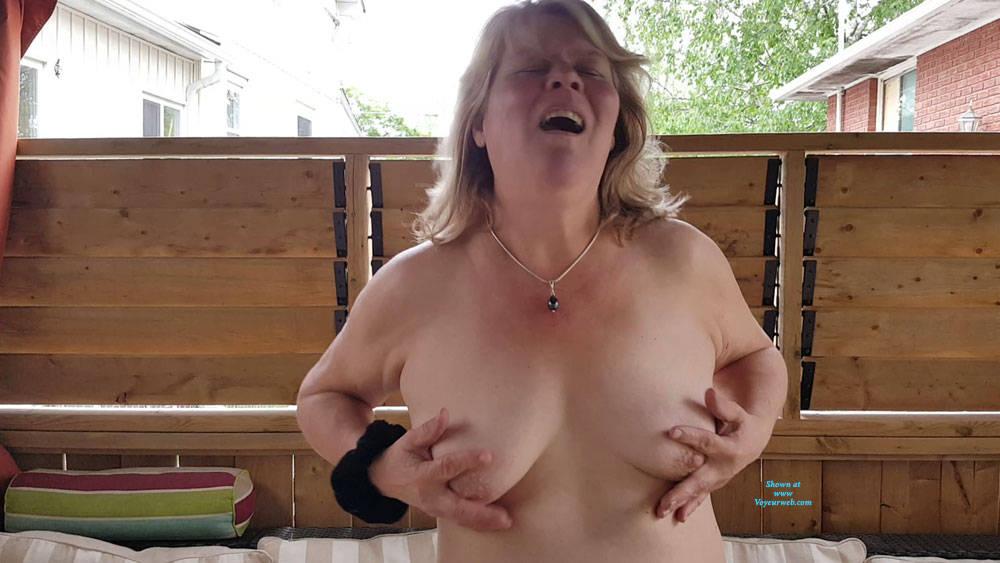 Pic #1 Heathers Beautiful Tits - Big Tits, Outdoors, Amateur