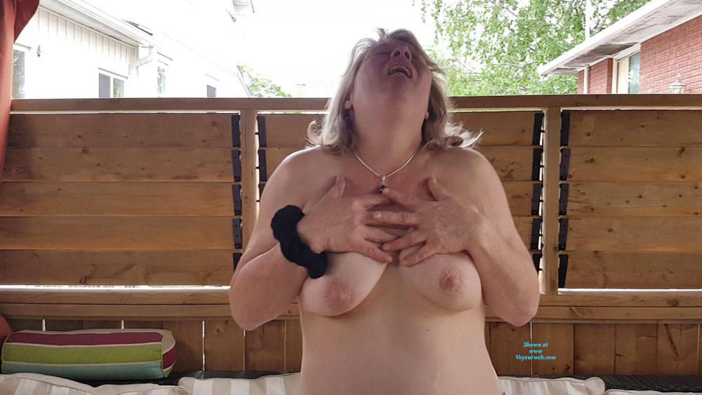 Pic #2 Heathers Beautiful Tits - Big Tits, Outdoors, Amateur