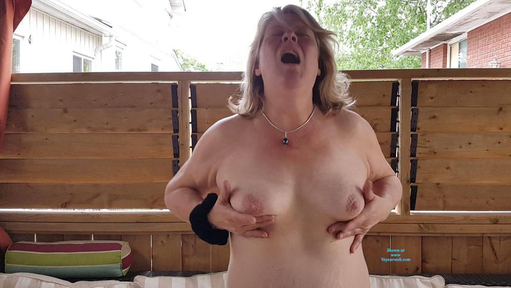 Pic #3 Heathers Beautiful Tits - Big Tits, Outdoors, Amateur