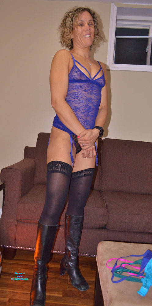 Pic #1 Some New Lingerie With Boots - Blonde, Lingerie, Amateur