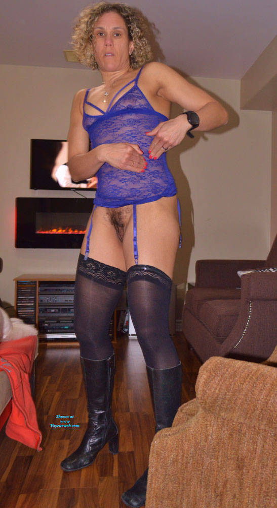 Pic #2 Some New Lingerie With Boots - Blonde, Lingerie, Amateur