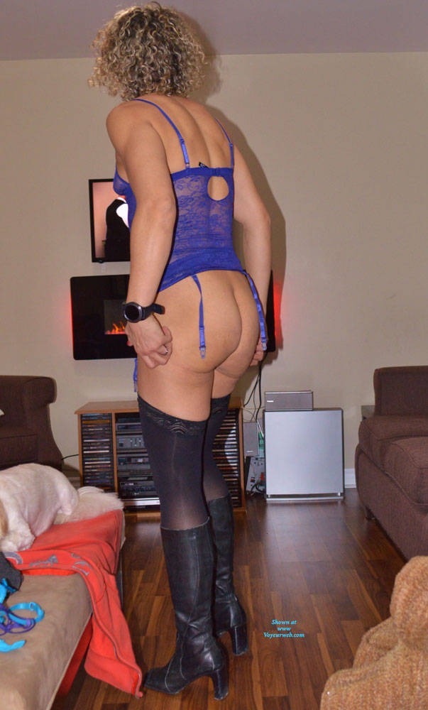 Pic #3 Some New Lingerie With Boots - Blonde, Lingerie, Amateur