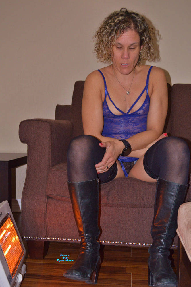 Pic #4 Some New Lingerie With Boots - Blonde, Lingerie, Amateur