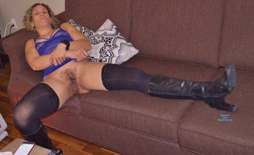 Pic #5 Some New Lingerie With Boots - Blonde, Lingerie, Amateur