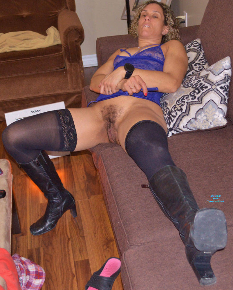 Pic #6 Some New Lingerie With Boots - Blonde, Lingerie, Amateur