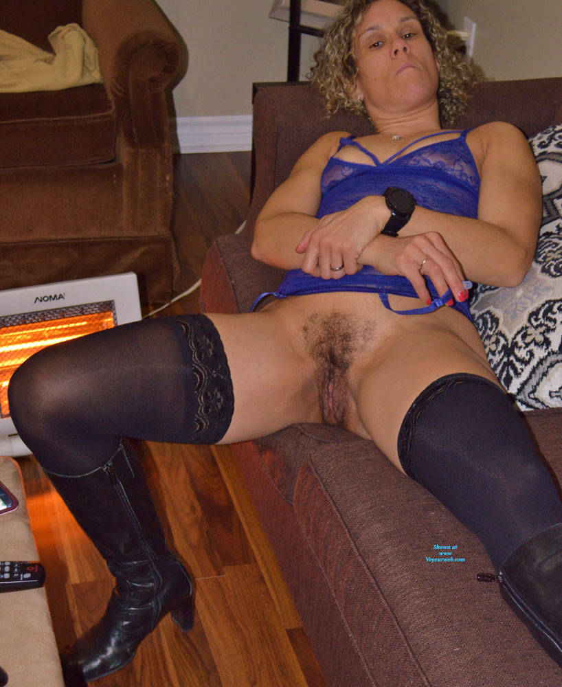 Pic #7 Some New Lingerie With Boots - Blonde, Lingerie, Amateur