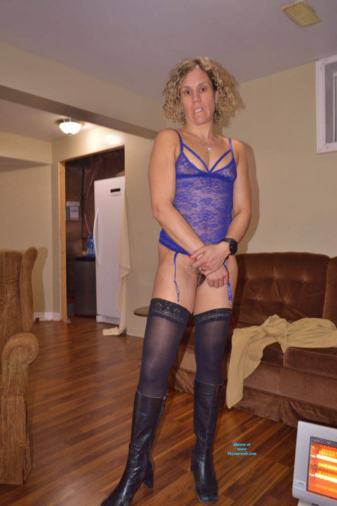 Pic #9 Some New Lingerie With Boots - Blonde, Lingerie, Amateur