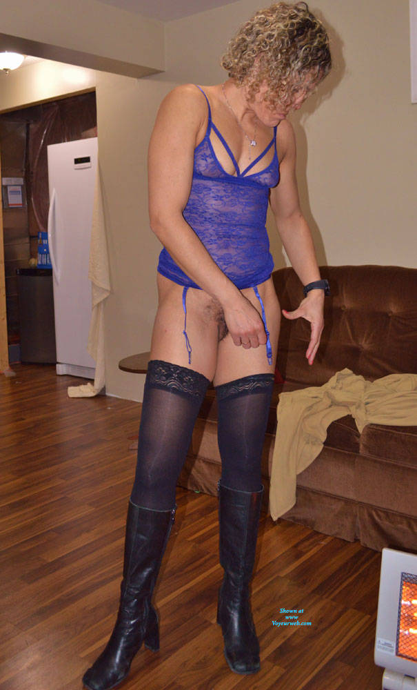 Pic #10 Some New Lingerie With Boots - Blonde, Lingerie, Amateur