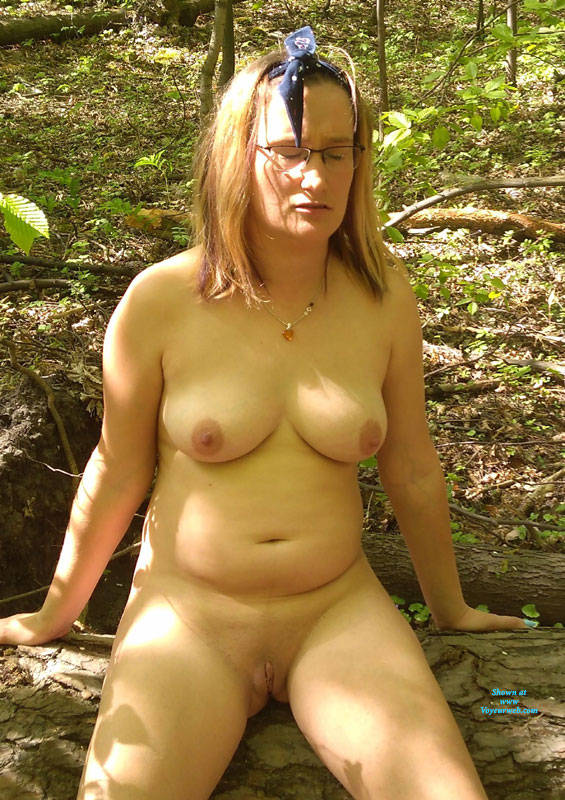 Pic #7 Wife Naked In The Woods - Nude Wives, Big Tits, Outdoors, Shaved, Nature, Amateur