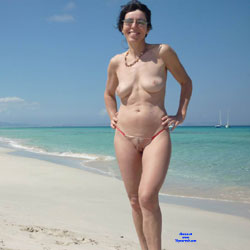 Almost Nude At The Beach - Beach, Brunette, Outdoors, Amateur