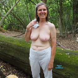 Walk In The Woods - Big Tits, Blowjob, Mature, Outdoors, Amateur