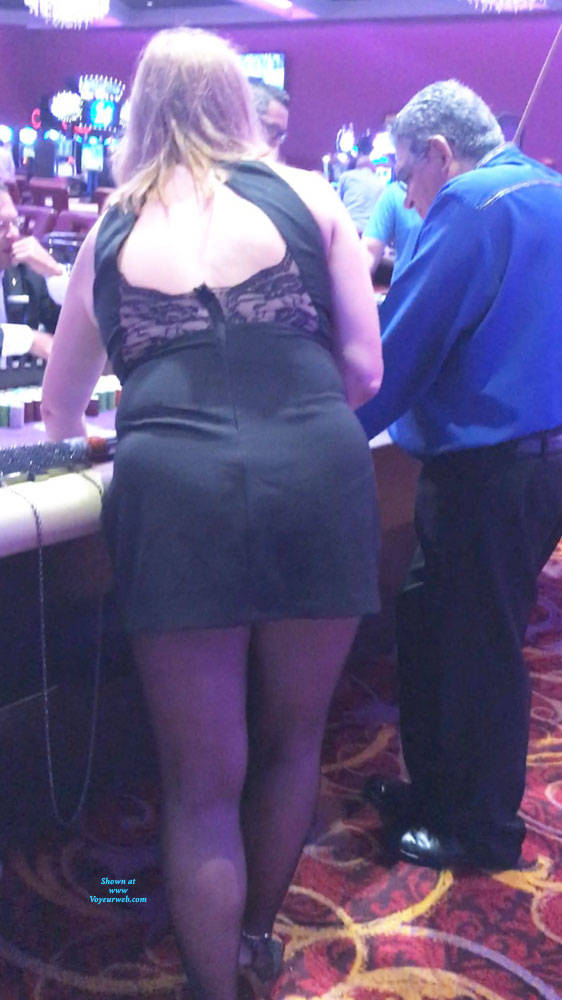 Pic #4 Teasing At The Casino - Lingerie, Public Place, Wife/wives, Amateur, Dressed