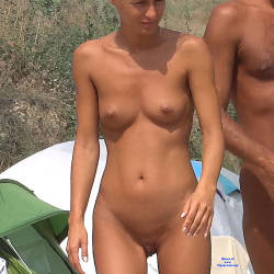 Pic #3 Camping Girl - Nude Girls, Blonde, Outdoors, Shaved