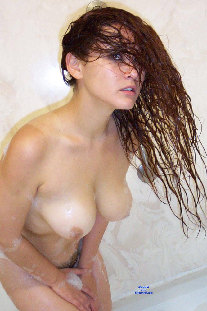 Pic #5 Soapy Tub - Big Tits, Brunette, Amateur