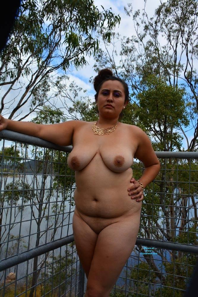 Pic #3 Valeria - Nude Girls, Big Tits, Brunette, Outdoors, Shaved, Amateur