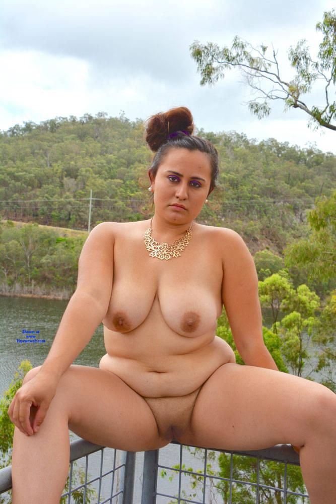 Pic #8 Valeria - Nude Girls, Big Tits, Brunette, Outdoors, Shaved, Amateur