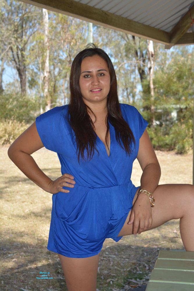 Pic #1 Valeria - Nude Girls, Big Tits, Brunette, Outdoors, Shaved, Amateur